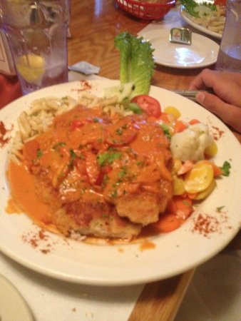 Cafe Old Vienna: Pork in the red pepper sauce-yummo