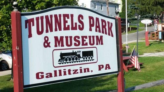 Gallitzin Tunnels Park & Museum: Tunnels Park Sign