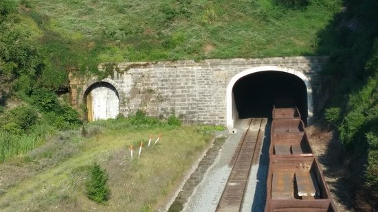 Gallitzin, Pennsylvanie : Train Coming Through Tunnel