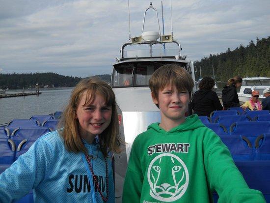 Deception Pass Tours : On Captain Brett's boat.