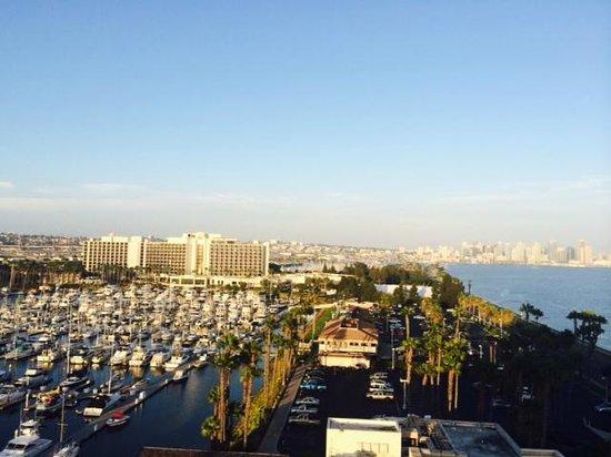 The Sheraton San Diego Hotel & Marina : Far away you see Marina Tower