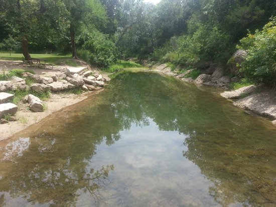 Chickasaw National Recreation Area : This is the first swimming area before you continue on to Cold Creek camp sites or Little Niagra