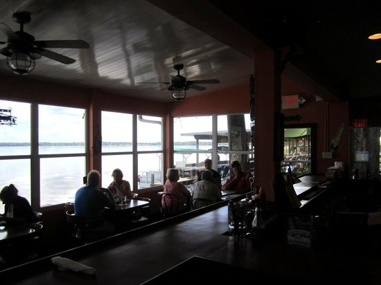 J. B. Boondocks Bar & Grill: My Party In The Corner Table With A View