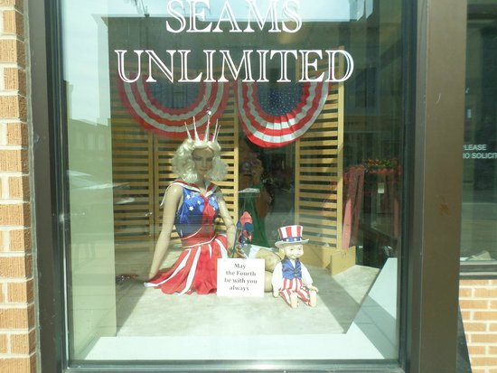Downtown Racine: Display in one store