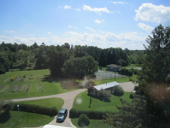 The Briars: View from The Tower - garden, gazebo, basketball courts