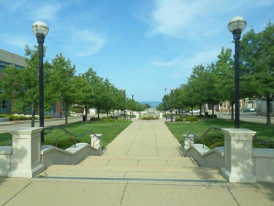 Downtown Racine: View toward the lake