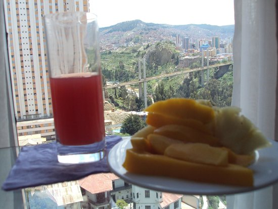 Stannum Boutique Hotel & Spa: Fresh fruits juice Breakfast and a view
