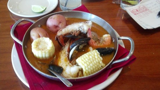 The Fish Market: Clam Bake (note the broth that is easily splashed around)