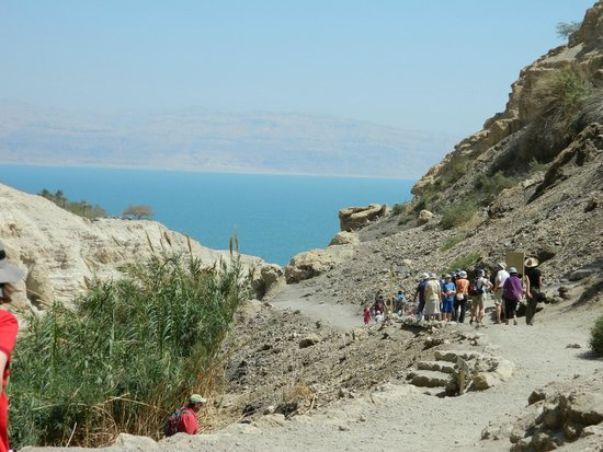 Ein Gedi Nature Reserve: view of the Dead Sea from the trail