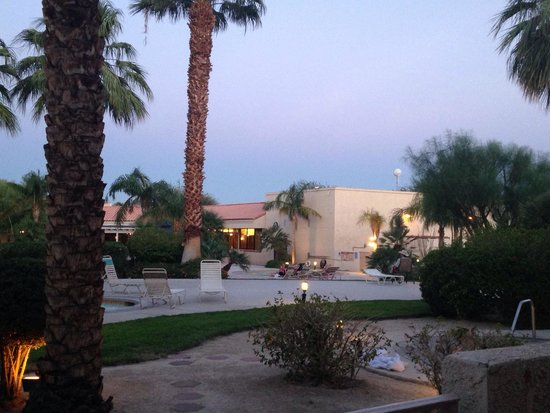Miracle Springs Resort and Spa: View from my 1st floor poolside room.