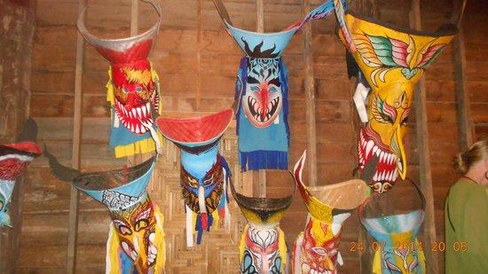 Siam Niramit Phuket: Masks on display