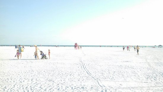Siesta Beach: Soft white sand at Siesta