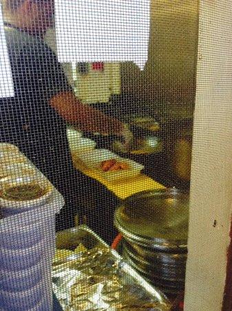 Romy's Kahuku Prawns and Shrimp: My Garlic Shrimp Plate being prepared