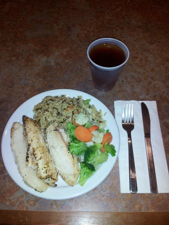 Homewood Suites Yuma : Garlic & Herb Tilapia, Garden Blend Wild Rice & Veg Medley Welcome Home Reception meal (day of t