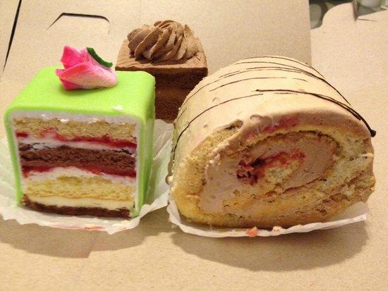 Graf's Pastry : Rum cake, Hazelnut roll and Chocolate cake