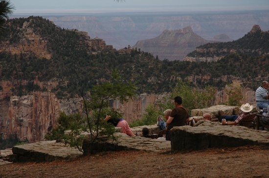 Grand Canyon Lodge - North Rim: many wake up early to see the sunrise here