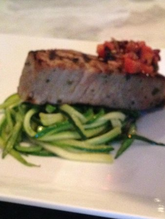 The Cook and the Cork: Tuna Steak with Zucchini Noodles