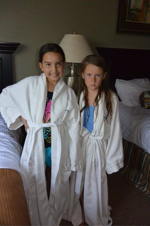 Worldmark St. George: Robes in the penthouse rooms!