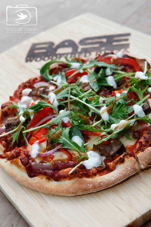 BASE Woodfired Pizza: Moroccan Lamb