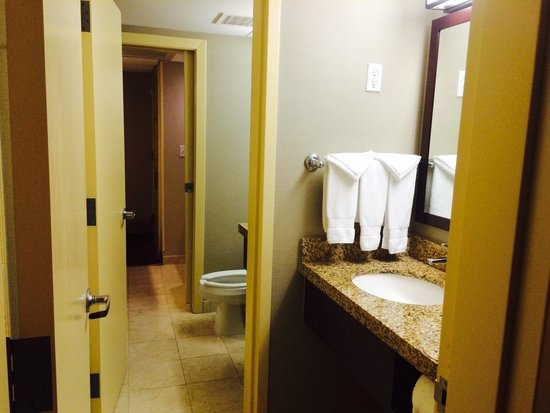 Embassy Suites by Hilton West Palm Beach Central: Restroom and separate vanity area