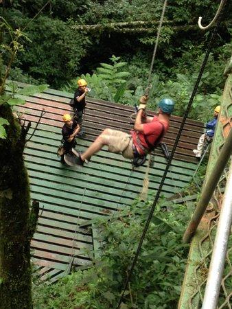 Monteverde Extremo Park : Tarzan jump