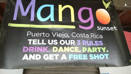 Mango Sunset: Sounds like my kind of place!