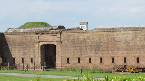 Side view of Old Fort Jackson