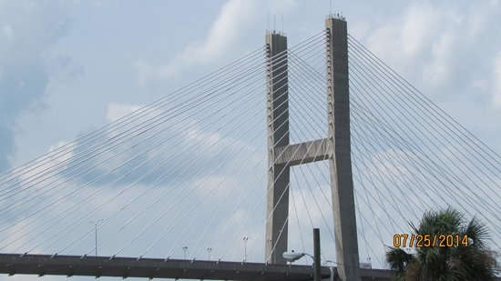 River Street Savannah: Bridge as seen from River Street
