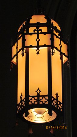 Cathedral of St. John the Baptist: One of the incredible lamps in the cathedral