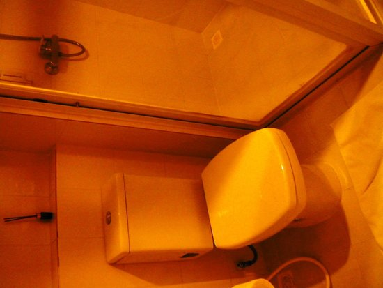 The Cottage Suvarnabhumi : The bathroom is tiny but clean and adequate