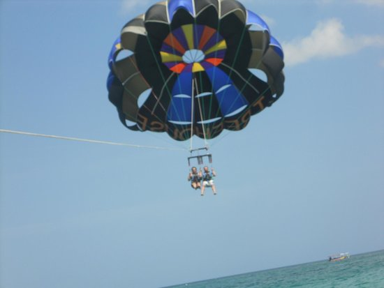 Couples Swept Away: Parasailing. This was extra but worth the money. It was a blast.