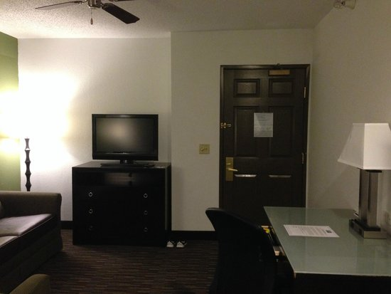 Holiday Inn Express Hotel & Suites Chicago-Deerfield/Lincolnshire : TV and door