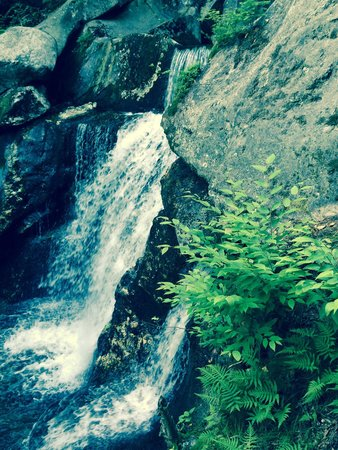 Lost River Gorge and Boulder Caves: one of many waterfalls