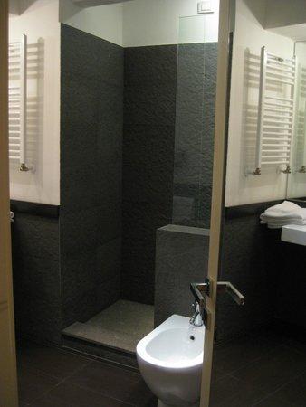 SuiteDreams Hotel: Toilet (wall length mirror on door)