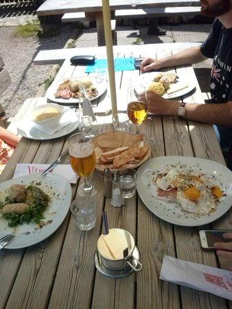 Agritur Malga Secine: Il gustosissimo pranzo