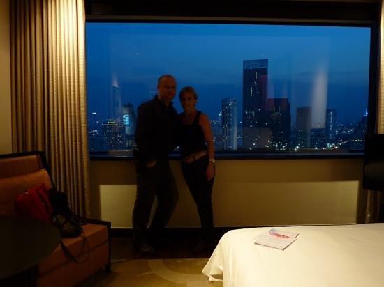 Millennium Hilton Bangkok: Aussicht Zimmer 27. Stock