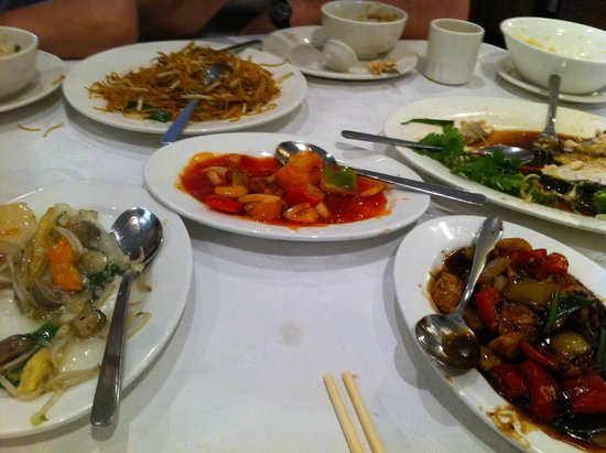 Jade Garden : Half way through the meal .... and we all finished everything