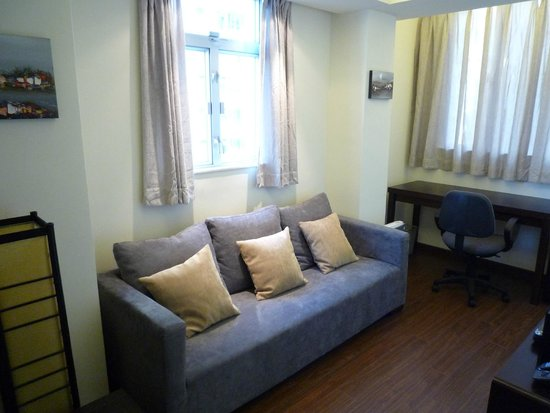 Living Room 1 Bedroom Apartment Picture Of S Residence Serviced Apartments Hong Kong Tripadvisor