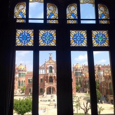 Recinte Modernista de Sant Pau : вид из главного корпуса