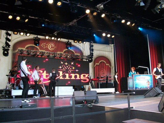 """Efteling: Music-stage on the main-sqaure """"where all the magical creatures""""may"""" reveal themeselves to you."""