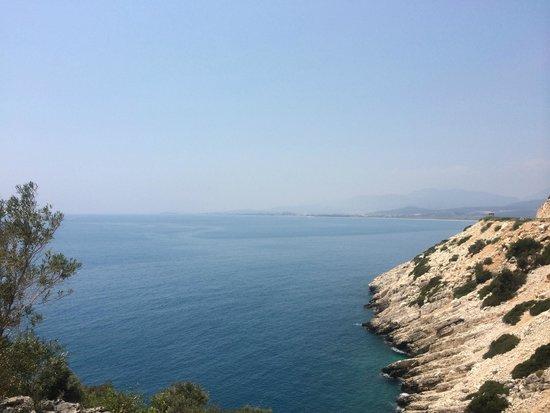 Plage d'Oludeniz (Lagon bleu) : ölü deniz baba dagdan