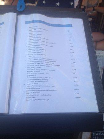 Lux: Tapas menu
