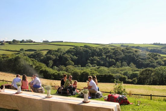 Country Ways Holiday Cottages: BBQ with a view