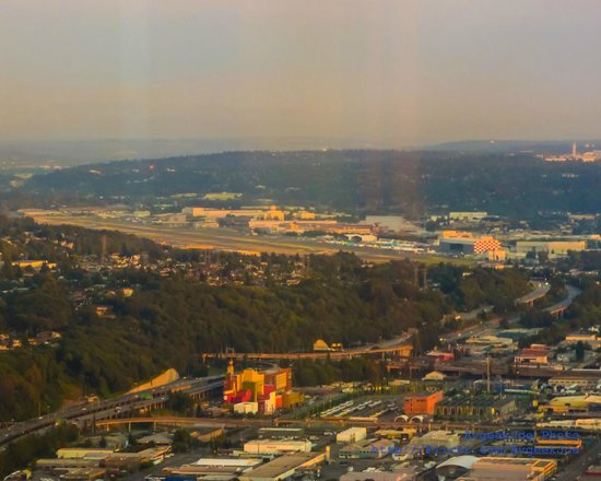 Sky View Observatory: Boeing Field and a ton of glare