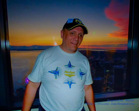 Sky View Observatory: Selfie of me from the Columbia Center