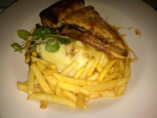 The Outsider Restaurant: Rabbit Pie w/ mash & donated garlicky fires