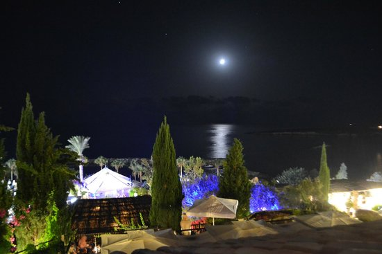 Coral Beach Hotel & Resort: vue mer by night
