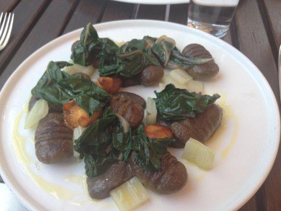 Plateau: Mushroom gnocchi