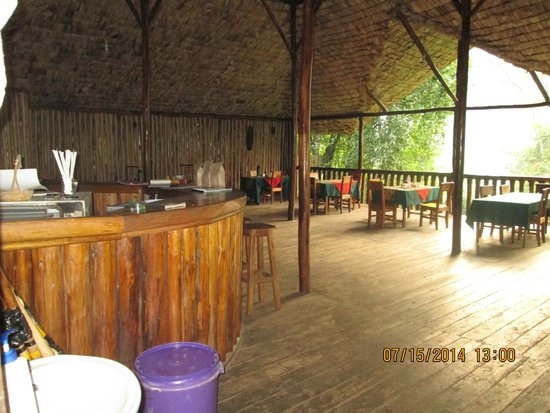 The Buhoma Community Rest Camp: restaurant and gathering spot
