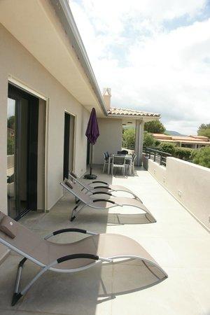 Residence Motel Aria Marina : Terrasse